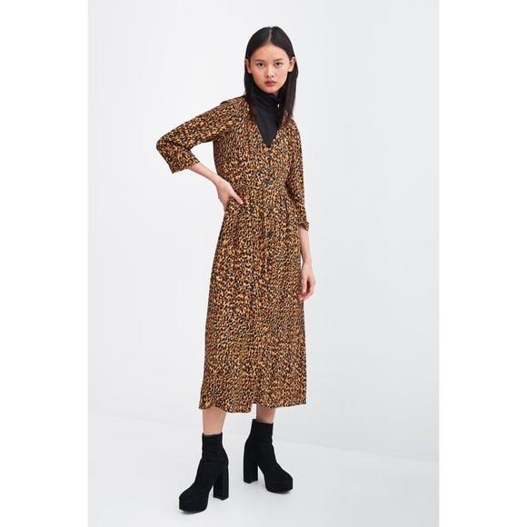 Zara Dresses & Skirts - Zara Leo Dress 🐯 worn once ! Sz XS